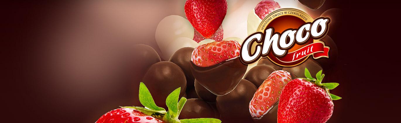 Nowość mrożone owoce<br>w czekoladzie